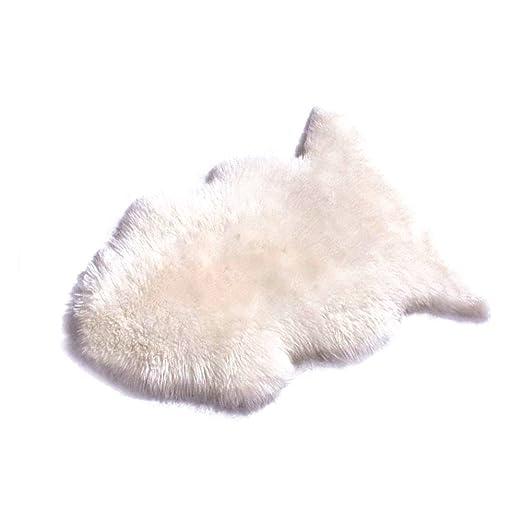 WCIC Área Rugs, Deluxe lana sintética suave piel de cordero ...