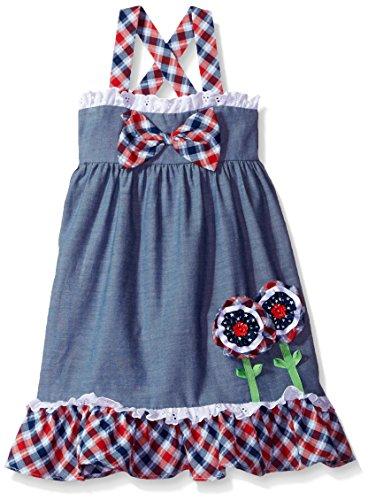 Bonnie Jean Plaid Dress - Bonnie Jean Toddler Girls Chambray Dress, Plaid, 3T