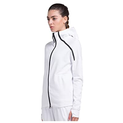 1Bests Women's Zip Up Hooded Activewear Coat Thumb Hole Cotton Lightweight Fitness Athletic Jacket