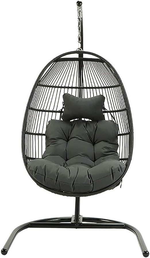 WQSDA1 Oscilación Silla colgante de ratán patio al aire libre silla de interior, utilizando Protección Ambiental Rattan.Reinforcement mejora la calidad, Do it No Fade.Suitable for el jardín, patio: Amazon.es: Jardín