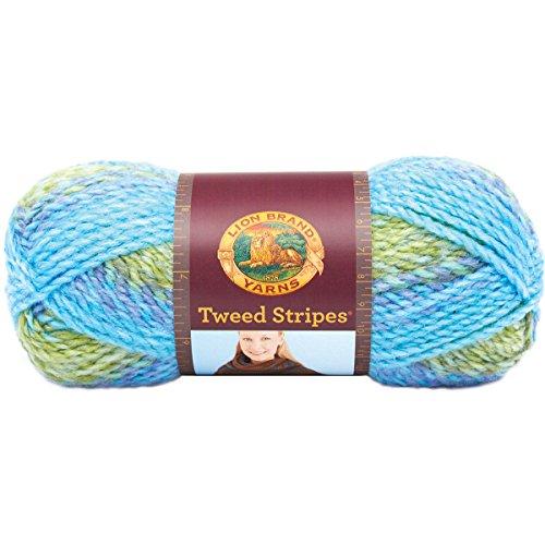 Lion Brand Yarn 753 210 Tweed Stripes Yarn  Lakeside