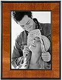 Malden International Designs Burl Wood Walnut Wooden Picture Frame with Black Border, 5 by 7-Inch