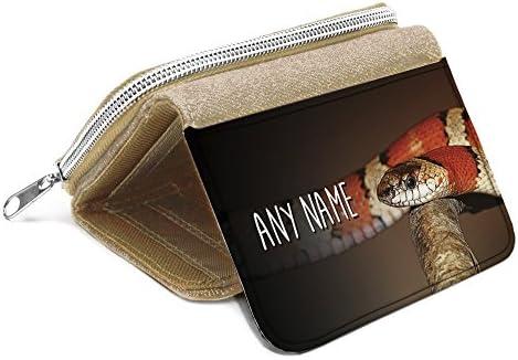 Placa personalizable en inglés para Monedero de piel de ...