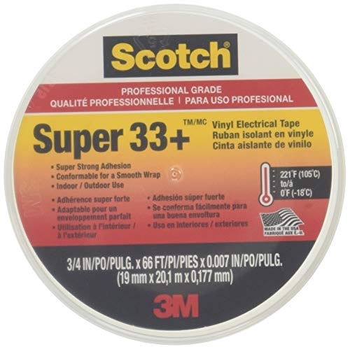 Scotch Super 33+ Vinyl Electrical Tape, 3/4 in x 66 ft primary