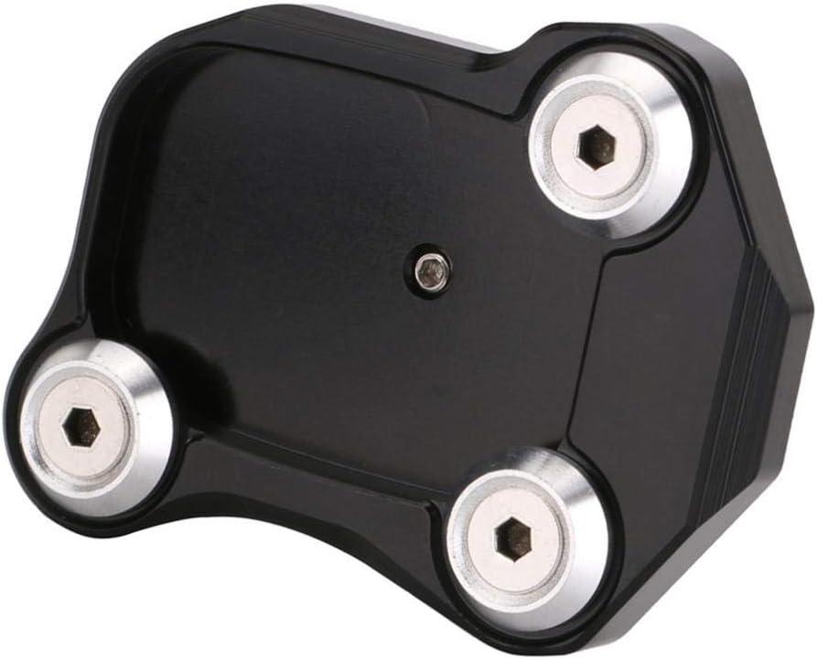Schwarz Shiwaki Aluminium Seitenst/änder Verbreiterung Kickstand Pad f/ür Honda CB600F//CB650F Series