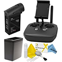 DJI Inspire 1 Black Edition Accessory Kit: Includes Remote Controller (Black) + TB48 Battery (Black) + Battery Heater (Black) + eDigitalUSA Cleaning Kit