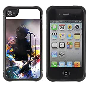 "Hypernova Defender Series TPU protection Cas Case Coque pour Apple iPhone 4 / iPhone 4S [Firma Música Artista""]"
