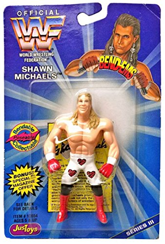 - Shawn Michaels Bendable, Poseable Collectable Action Figure - Official WWF World Wrestling Federation Bend-Ems Series III