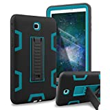 XIQI Galaxy Tab A 8.0 Case Three Layer Hybrid Rugged Heavy duty Shockproof Anti-Slip Case Full Body Protection Cover for Samsung Galaxy Tab A 8.0 inch 2015 release (Not fit 2017),Black/Bule
