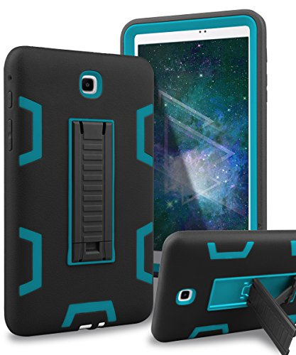 XIQI Galaxy Tab A 8.0 Case Three Layer Hybrid Rugged Heavy Duty Shockproof Anti-Slip Case Full Body Protection Cover for Samsung Galaxy Tab A 8.0 inch 2015 Release(No Fit 2017),Black/Bule