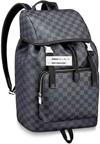 cad12d51ae3 Louis Vuitton Damier Graphite Canvas Zack Backpack Handbag Article  N40005