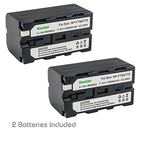 Kastar Battery (2-Pack) for Sony NP-F770, NP-F750, NP-F730 CCD-RV100 CCD-RV200 CCD-SC9 CCD-TR1 CCD-TR940 CCD-TR917 Camera CN-126 CN-160 CN-216 CN-304 YN 300 VL600 LED Video Light by Kastar