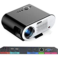 Portable Video Projector GP90 UP Wireless projector with Android Operating System 4.42 Multimedia HD Home Cinema Theater Projector with HDMI/VGA/AV/USB/RJ45-LAN Interface