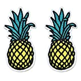 Pomeat 20 pcs Cute Chic Pineapple Patch Applique Fruit Cartoon Kids Sew-on Embroidered Patch