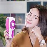 VANKER Personal Fan Cooling Misting Fan, Portable USB Rechargeable Fan, Table Desk Mini Humidifier Spray, Red
