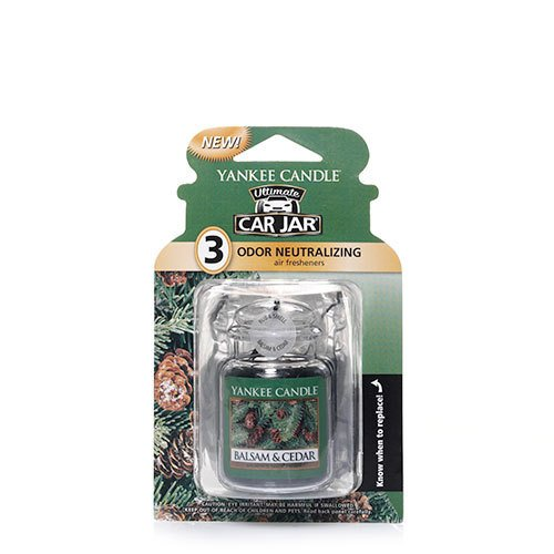 Yankee Candle Car Jar Ultimate Balsam and Cedar 3pack