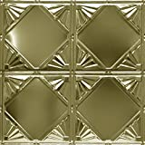 Shanko BR307DA Pattern 307 Authentic Pressed Metal Wall and Ceiling Tiles, 20 sq. ft., Brass