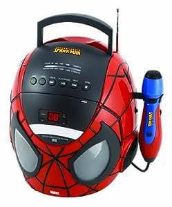 Lexibook K11SP Spiderman - Radio CD portátil (LED)