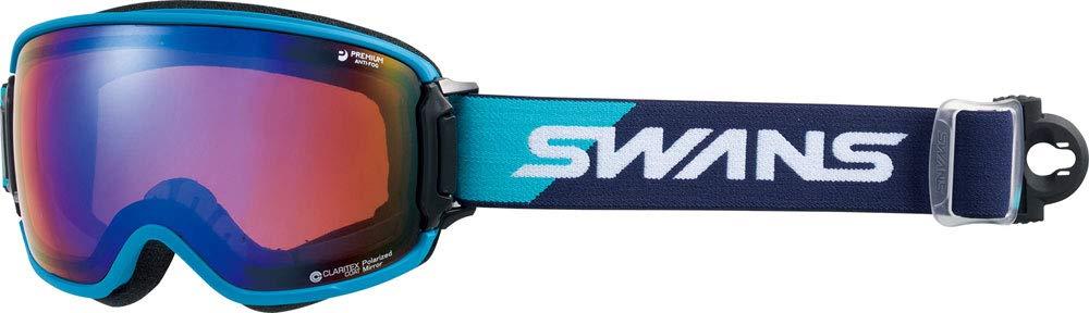 SWANS(スワンズ)リッジライン 偏光ダブルミラーレンズ スノーゴーグル スキー スノーボード 大人用 RIDGELINE-MPDH-SCP NBL F