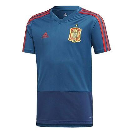 Amazon.com   adidas 2018-2019 Spain Training Jersey (Blue) - Kids ... 89a37c42a