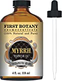 Myrrh Essential Oil 4 fl. oz. With a Glass Dropper - 100% Pure and Natural with Premium Quality & Therapeutic Grade - Ideal for Aromatherapy, Massages and Maintaining Healthy Skin