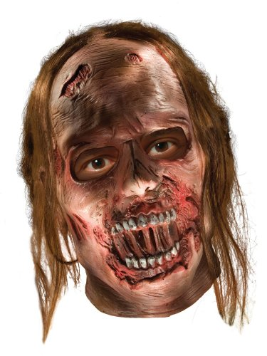 The Walking Dead TV Show, Adult Decayed Zombie Latex Mask, One Size]()