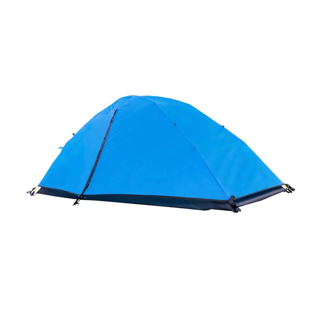 AX-outdoor products Zelten Sie Einzelne kampierende Überdachung tragbares im Freien Doppeltes Wasserdichtes Markisenpolyestertuch/Blaue Farbe 210  105  90cm