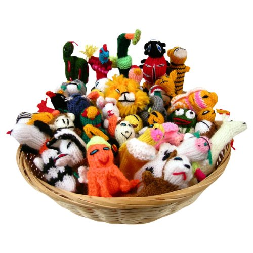 100 Cotton Finger Puppets (Sanyork Wholesale Finger Puppets Set of 100 Assortment Birds, Animals & Insects)