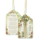 Master Christmas Key 3.5 inches Metal and Paper Tag Ornament Decoration