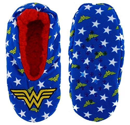 DC Comics Wonder Woman Cozy Slippers, Large/X-Large