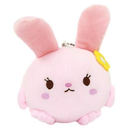 Amazon.com: Muñeca japonesa de felpa de conejo, color rosa ...