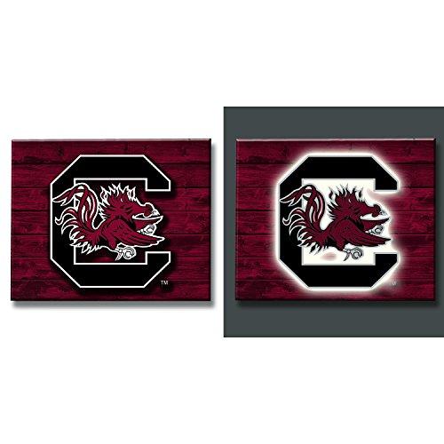 Team Sports America South Carolina Gamecocks LED Metal Wall Art