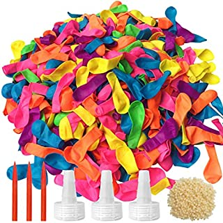 1200 Pack Water Balloons, Latex Water Balloons for Kids and Adults - for Summer Splash Fun Fight Games, Come with 3 Hose Nozzles Refill Kits