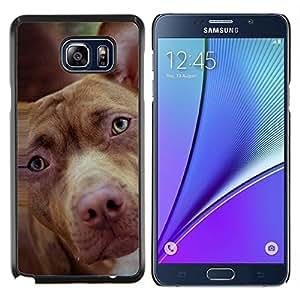 Mutt Mestizo Marrón Raza mestiza- Metal de aluminio y de plástico duro Caja del teléfono - Negro - Samsung Galaxy Note5 / N920