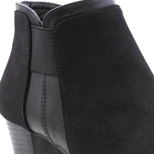 Black Cushion Heeled Womens Walk Black Boot Ankle vwC6Ov