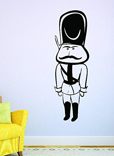 Design with Vinyl RAD 579 1 Nut Cracker Soldier Silhouette Vinyl Wall Decal Black 10 x 20