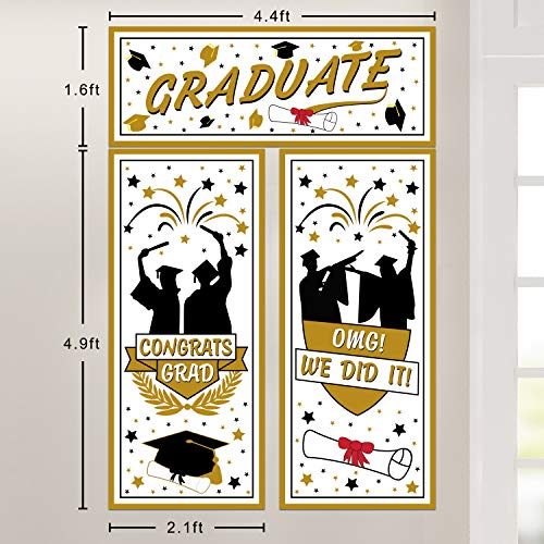 Graduation Backdrop Banner - Graduation Wall Backdrop 2019 - Congrats Grad Wall Decorations - Graduation Party Photo Booth -