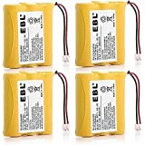 EBL Pack of 4 Cordless Phone Battery Fit for Vtech 80-5071-00-00 8050710000 Again & Again STB-912 STB912 Casio CP2775 TC2575 TC508 TC510 TC520 TC749 TC919