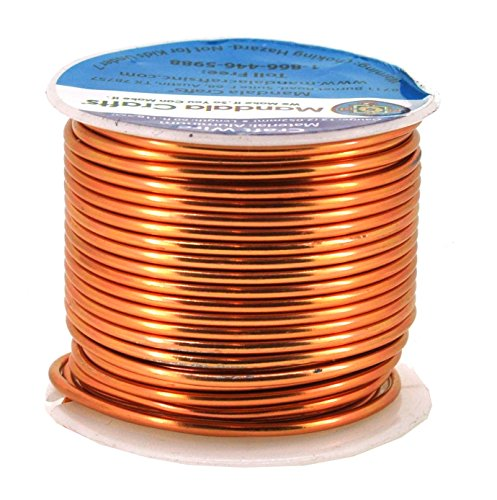 zed Aluminum Wire for Sculpting, Armature, Jewelry Making, Gem Metal Wrap, Garden, Colored and Soft, 1 Roll(12 Gauge, Copper Tone) ()