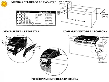 Barbacoa de Gas Discovery 1100S 4 Encastrable Beefeater: Amazon.es: Jardín