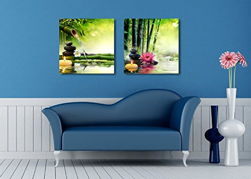 Spa Stones in Garden Wall Decor x 2 Panels