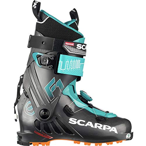 (SCARPA F1 Alpine Touring Boot Anthracite/Pagoda Blue, 27.5)