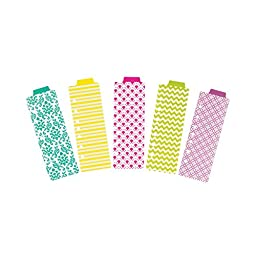 Avery Mini Snap-In Plastic Bookmark Dividers,, 5 Tabs, 1 Set, Assorted Designs (24922)