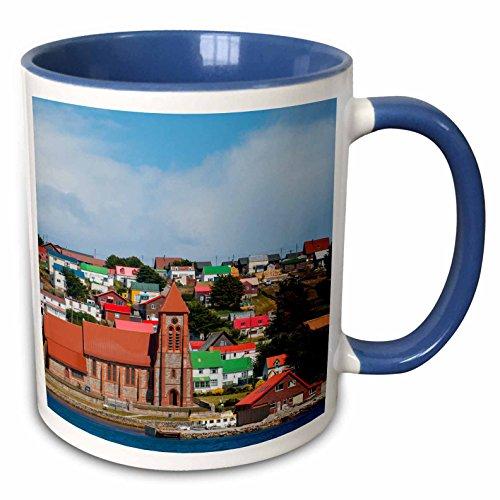 (3dRose Danita Delimont - Citys - Falkland Islands. Stanley. - 15oz Two-Tone Blue Mug (mug_229041_11))