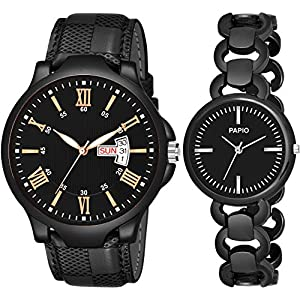 PAPIO Daydate Men' Watches and Women's Watches Analog Couple Watch