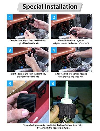 LASFIT-9007HB5-LED-Headlight-Kits-Flip-COB-Chips-60W-7600LM-6000K-Dual-HiLo-Beam-BulbsPack-of-2