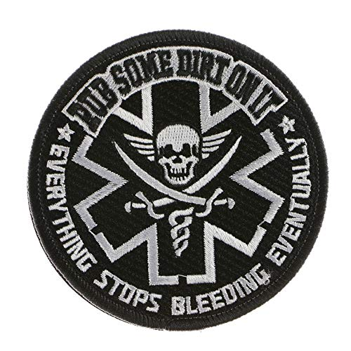 LiZMS Tactical Patch : Rub Some Dirt On It Everything Stops Bleeding Eventually - Hook and Loop Fasteners