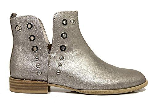 Boots Noir Cafè KEG226 Grigio Ankle Leather CAFèNOIR w7UqP5Xf