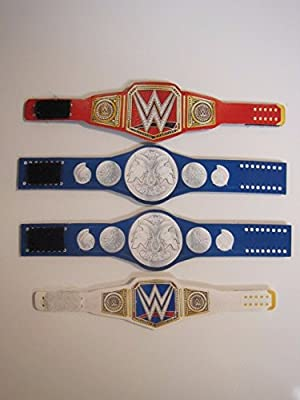 4 Custom Wrestling belts (for WWE action figures)