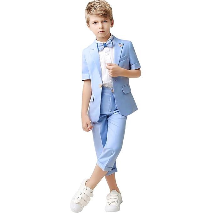 Amazon.com: Kelaixiang - Traje de niño con un botón para ...
